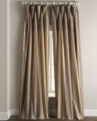 White Taffeta Curtains Striped Silk Curtain Horchow Com