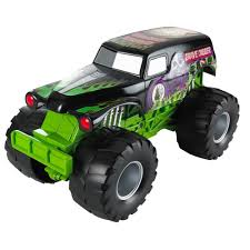 monster jam 1 24 scale trucks wheels monster jam grave digger sound smashers vehicle