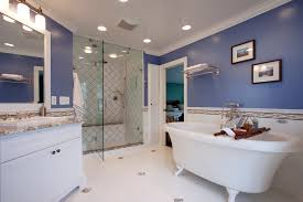 blue bahia granite bathroom contemporary with floor tile design