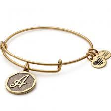 initials bracelet initial charm bangle bracelets