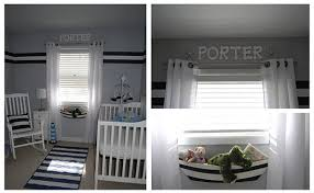 Nautical Themed Baby Rooms - baby nursery decor blue and white themes decoration baby boy