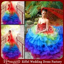 colorful wedding dresses unique rainbow colored wedding dresses gown sweetheart tiered