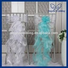 turquoise chair sashes ch098d wholesale cheap fancy turquoise white organza