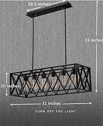 Black Island Light Efinehome Efine Vintage Industrial 6 Lights Edison Retro Rustic