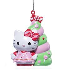 hello kitty blow mold christmas tree ornament retrofestive ca
