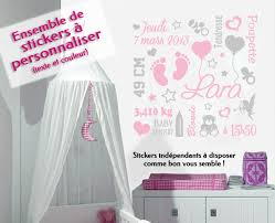 sticker mural chambre fille stickers personnalisé bebe my