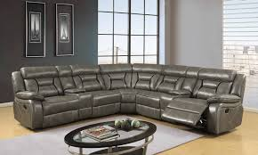 agnes slate black sectional