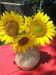 Sunflower Centerpiece Making A Sunflower Wedding Bouquet Thriftyfun