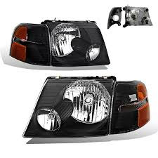 sppc headlights black with corner for ford explorer pair