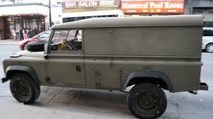 land rover military defender rare military land rover defender sighting youtube