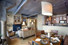 Home Design Ideas For Condos by Vintage Style Chicago Loft Condo With Concrete Ceiling Design And