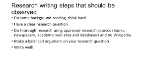steps in writing a research paper research paper workshop research topics in development and 3 research writing steps