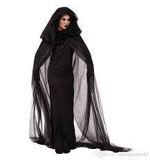 Party Costumes Halloween Size Ghost Bride Black Dress Broomstick Witch