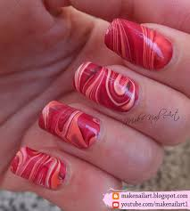 autumn inspired water marble nail art design nail art by make nail