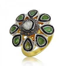 emerald rings wholesale images 925 sterling silver jewellery ethnic diamond inlay emerald ring jpg