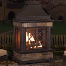 outdoor propane fireplace backyard sunjoy heirloom steel wood