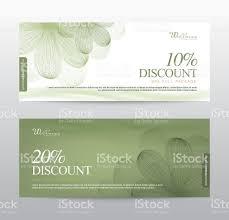 green gift voucher vector illustration gift voucher flower spa background banner template vector stock