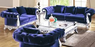 blue velvet tufted sofa cozysofa info