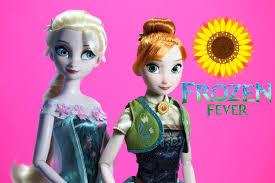 disney frozen fever dolls anna elsa toys unboxing review