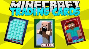 minecraft cards minecraft mods trading cards notch vs herobrine mod