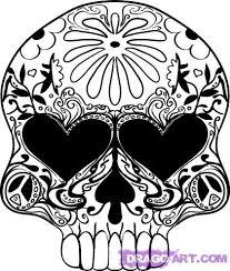 how to draw a sugar skull design by skulls pop culture