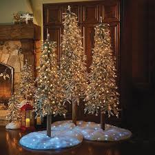 lighted christmas decorations indoor lighted pre lit flocked alpine christmas tree indoor holiday decor 5