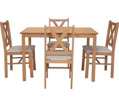 argos kitchen furniture buy home solid oak dining table 4 chairs at argos co