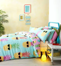 beach style duvet covers bedding teenage funky pineapple bright
