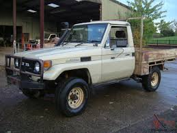 land cruiser pickup toyota landcruiser hj75 cab chassis pickup 4wd 4x4 diesel