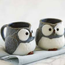 owl mug gray owl mugs set of 2 vivaterra