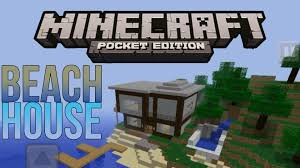 awesome minecraft pe beach house speed build youtube