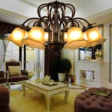 Dining Room Drum Chandelier by Modern 5 Light E12 E14 Base Drum Chandelier With Crystals