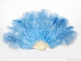 large feather fans 2018 sky blue marabou ostrich fether fan large feather fan fold