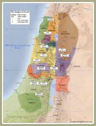 Isreal Map Judges Of Ancient Israel Map Old Testament Biblical Judges