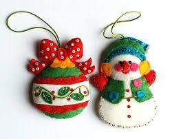 felt christmas kits felt christmas ornaments rsw patterns vintage bucilla