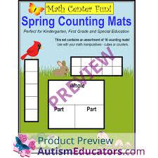 math work mats kindergarten first grade special education