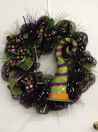 Halloween Wreaths Ideas by Deco Mesh Halloween Wreath Ideas