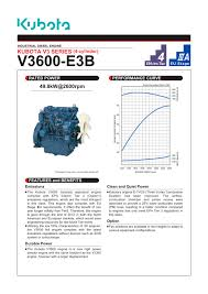 v3600 e3b kubota engine pdf catalogue technical