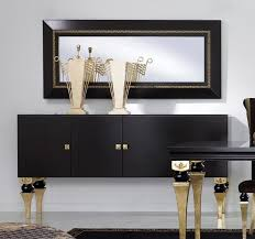 black sideboards in a luxury interior design