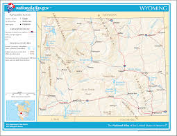 Afton State Park Map by Wyoming Geography Almanac