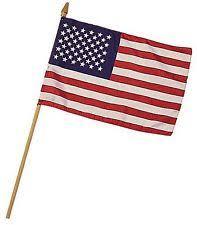 6 pack mini american flag on stick 8 x 12 us small united