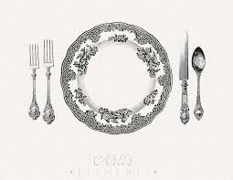 Fancy Place Setting Printable Place Setting Dinner Plate Knife Fork Spoon