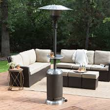 Stainless Steel Patio Heater Red Ember Mocha U0026 Stainless Steel Commercial Patio Heater With