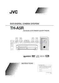 jvc home theater system jvc home theater system th a5r user u0027s manual download free