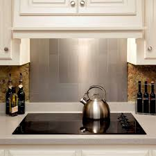 kitchen backsplash brushed stainless tile glass mosaic tile with