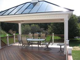 Building A Hip Roof Patio Cover by A Fiberon Deck And Rail With A Hip Style Roof Pavilion The