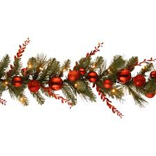 decor enchanting pre lit garland for christmas decoration ideas
