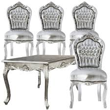 Silver Dining Room Set by Black And Silver Dining Room Set Designs The Best Inspiration