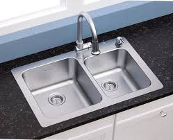 Stainless Faucets Kitchen by American Standard 18 Gauge 33 X 22 Stainless Steel Kitchen Sink