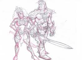 he man and she ra by barnabas13 on deviantart